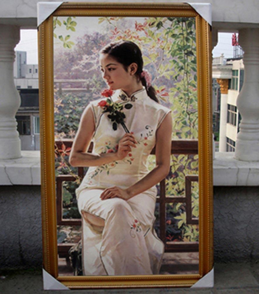 专业工作室定做 婚纱油画 与个人写真油画 599元
