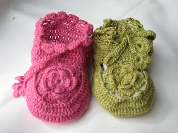 续2——孩子妈的毛线编织系列——毛线鞋