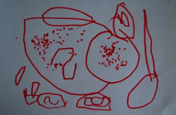 作者:李卓如 4岁半--5岁半 男孩 学画近2年 孩子们的画与婴儿的哭一样,是直接表达心情的一种表现方式。在画中,孩子讲述了自己的感受和发现。看孩子的画,并不是看他画得像不像,而是要听他的画所表达的东西、意思,理解他在画里所诉说的内容...... 来,我们一起来倾听孩子们的画吧----对亲爱的宝贝们来说,通过让别人的听,他的画才有了无限的意义! 『声明:以上内容为本站网友《千千画画》原创,转载需征得原作者同意并注明转载自www.