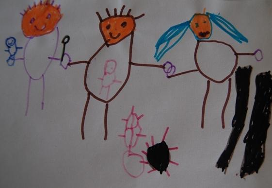 孩子创造 博苑幼儿园水彩硬笔画赏析