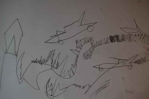 山村的铅笔画-铅笔画