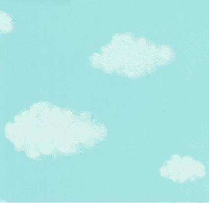 转让宝宝卧室墙纸 蓝天白云图案儿童墙纸
