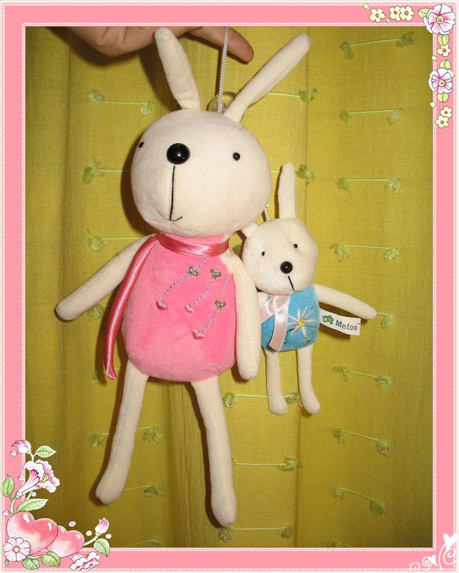 应个景儿,可爱的兔妈妈和兔宝宝真人秀