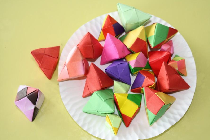 立体粽子折纸步骤图