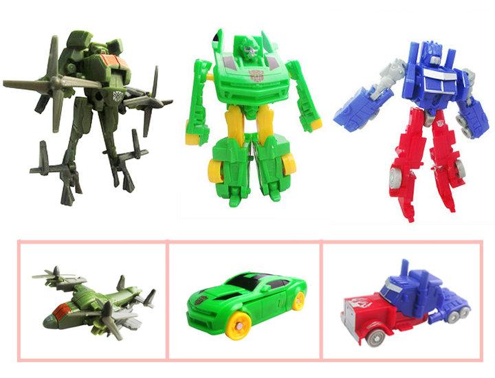 变形机器人 【商品尺寸】19*12*3.5cm  2.8元  数量:2个