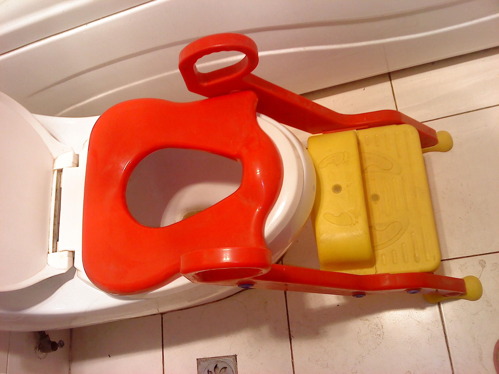 5,儿童坐便椅幼儿坐厕椅折叠式马桶,7成新, 18