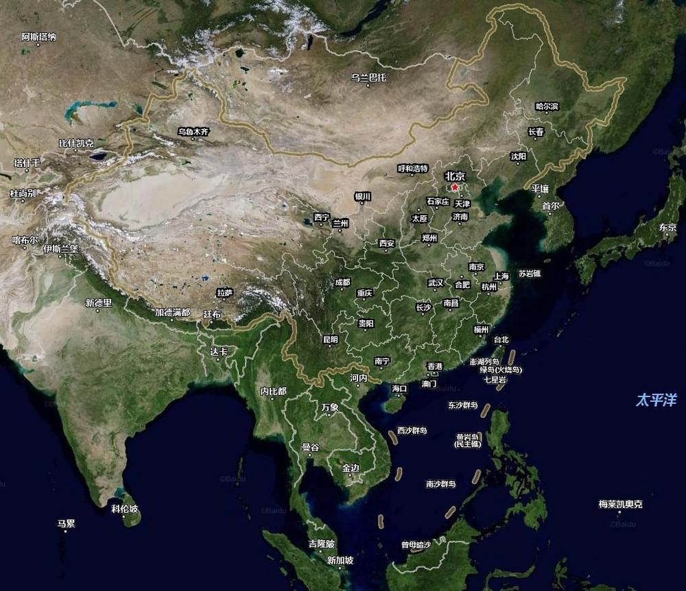 省地图和南海地图,广东当时管辖海南岛和南海诸岛屿