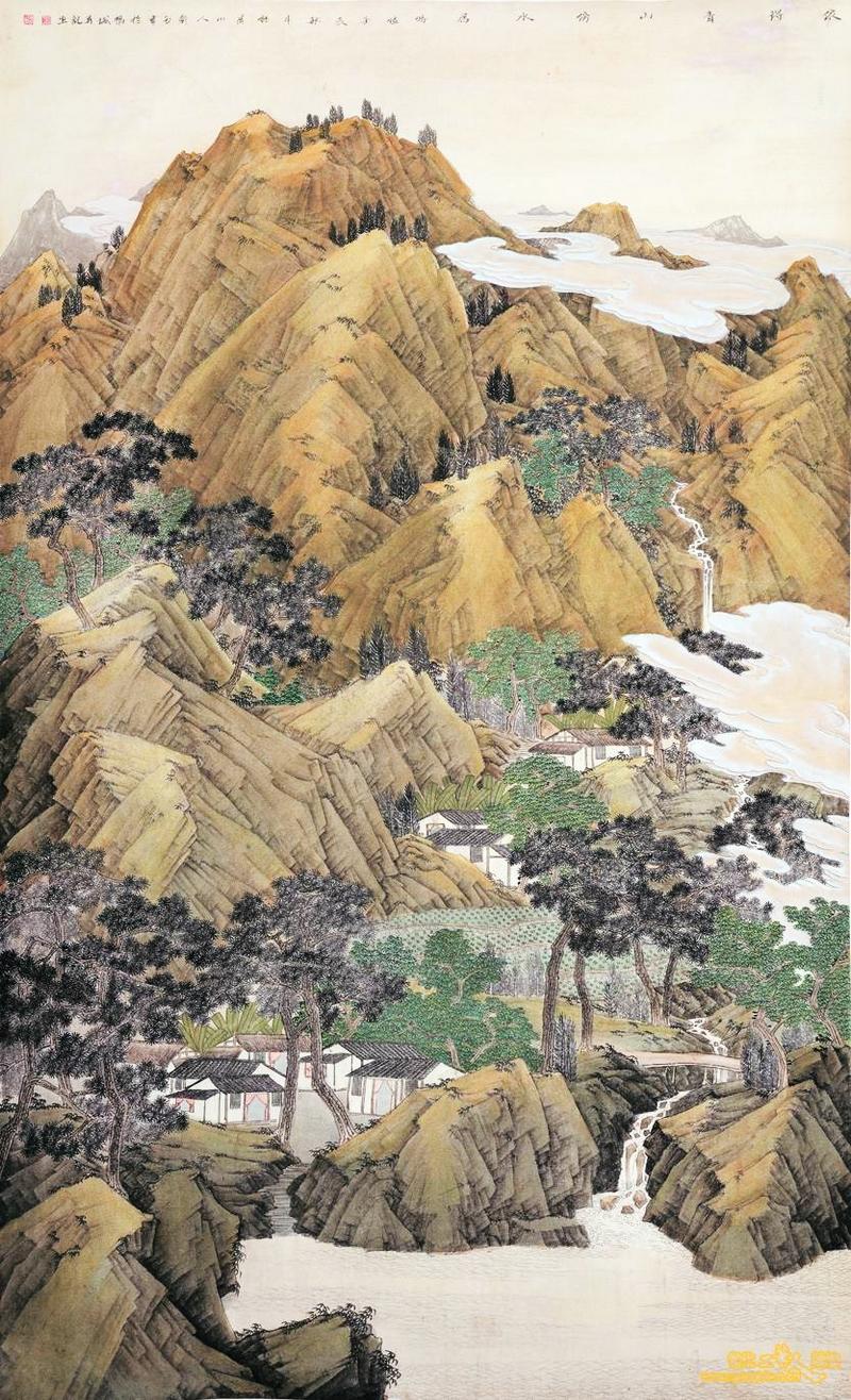 中国当代工笔山水图片