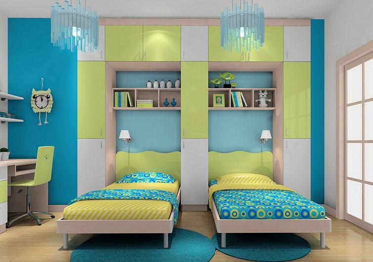 男宝宝卧室颜色