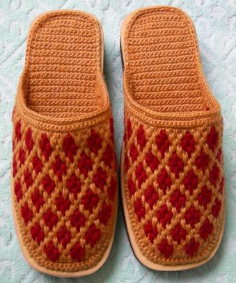 拖鞋的钩织方法