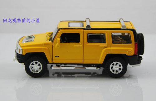 合金1:32悍马h3汽车模型玩具
